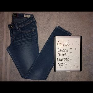 Guess Low Rise Jeans and White Shirt